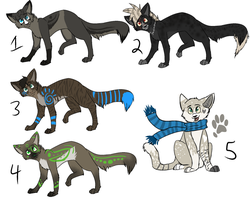 More Cat Adoptables (CLOSED) by FoolsCourage