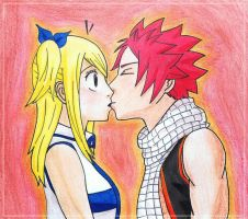NaLu: Sudden Kiss by CazyBunny