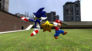 Mario and Sonic got a Star by Sergy92