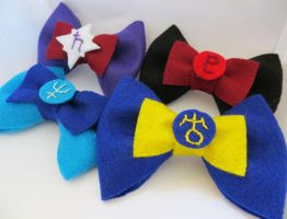 Outer Senshi Bows by geek-i-licious