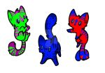 CHEAP Wolf-cat Adoptables 1 .: 1Open:. by phantomfilly16