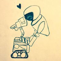 Wall-E and Eve by 1zzy1zzy