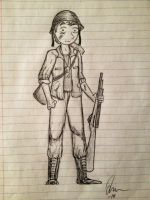 I'm a Soldier by Hobbesgirl