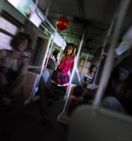 On the Train by RawArt3d