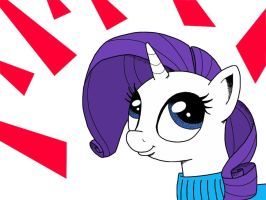 Rarity is smashing by givemesomebrohoof