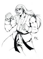 Ken Masters Ink by r-chie