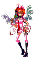 Nurse Ayce Battle Sprite Close by Krooked-Glasses