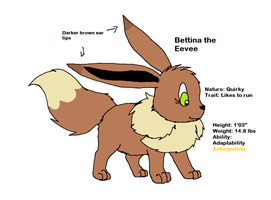 PMDU: Bettina the Eevee by XfangheartX