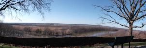 Panorama over Wabash River by tripptaylor