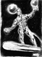Silver Surfer fast draw by Penerari
