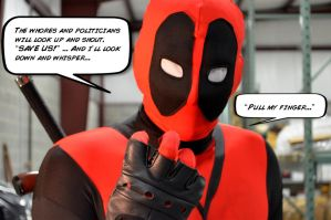 Deadpool Likes to Watch Men by SnuffBomb
