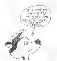 Pepe Le Pew's thoughts by dth1971
