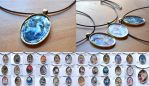 Magic Windows Pendant Collection by MissVulture93