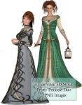 TW3D Princess Duo by TW3DSTOCK