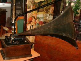 Antique Phonograph 1 by Falln-Stock