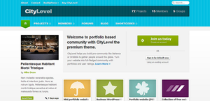 Frontpage template for community website (PSD) by DuckFiles