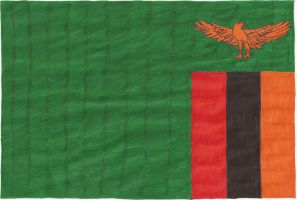 Hand-drawn flag of Zambia by cool1097