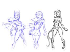 Some female super heroes by BobboWonder