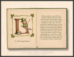L is for Leprechaun by WildWoodArtsCo
