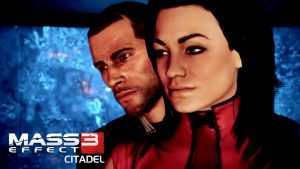 Miranda and Shepard ME3 Citadel 01 by Cain69