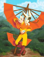 Aang + Momo by TheLittlestNewsom