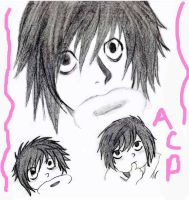 L  Death Note by AnimatedCookiePeople