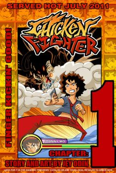Chicken Fighter volume 1 cover by Jey09