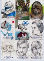 Star Wars Galactic Files series 2 sketch cards 5 by DarklighterDigital