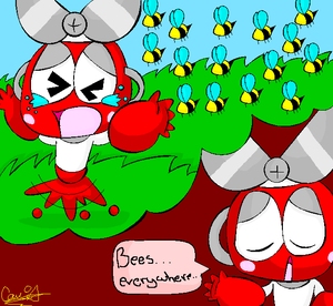 """""""Bees...everywhere..."""" by Camichuriin"""