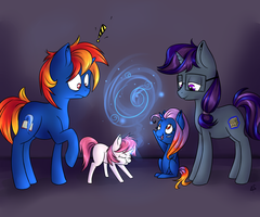 Commission: Knyght and Crate + foals by lilfaux