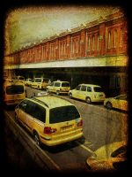 yellow cabs by awjay