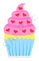 Cupcake Love T-Shirt Design by cuteordeath