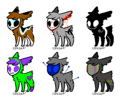 monster skullies adopt! by Budgie-Wing