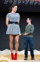Paula Patton and Tiny Tom by lowerrider