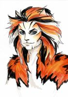 Watercolour Macavity by Roman-de-la-Croix