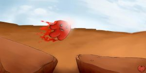 Super Meat Boy: Canyon leap by Apples-Malus