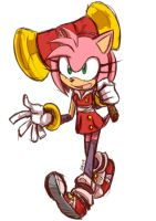 Sonic boom : Amy by Omiza