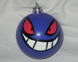 Pokemon Gengar Christmas Ornament by CherriKiss