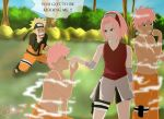 Narusaku Week: Upside down by Celious