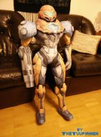 Papercraft Metroid Samus PED-suit (80 cm) with LED by tuupiainen