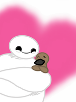 Baymax and a Platypus by Imaplatypus
