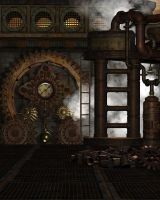 Steampunk Background 5 by Kachinadoll