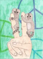 Peace, Love, Pygmy Marmosets by lemon-stockings