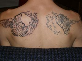 yin yang tattoo by RENE9A6E