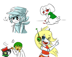 Cave Story doodl-uhs by Kaeotical