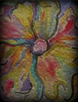 Abstract flower in watercolor by rainboww-horror