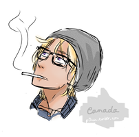 Hetalia : Hipster Canada by P0uic