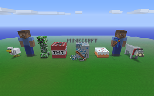 Minecraft Wool Statues by NDTwoFives