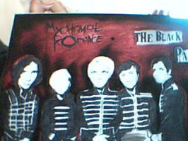 My chemical romance painting spraypaint and shizz by Llamasgoneh