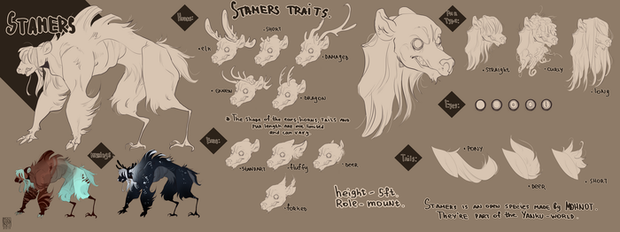 Stamers reference sheet|open-species by MOHNOT